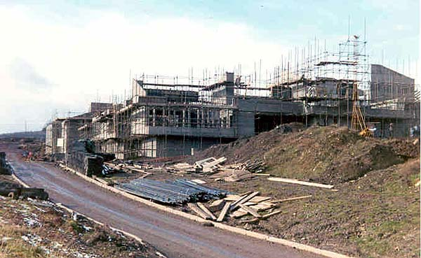 The new college under construction circa. 1971.